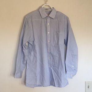Michael KORS Blue and White Plaid Dress Shirt